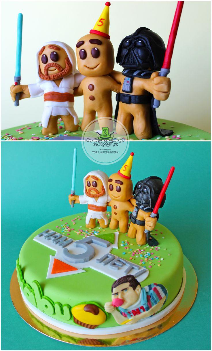 торт на пятилетие портала Picabu #тортшрёдингера #торт #cake