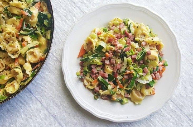 Tortellini met Italiaanse groenten