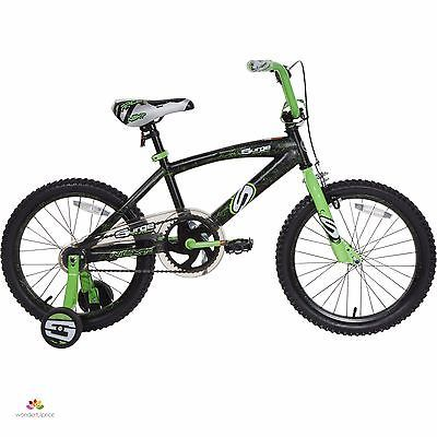 Kids Bikes With Training Wheels For Sale Road Cheap Bmx Boys 18 Inch Black Green8  Gender - Boys, Color - Green, Wheel Size - 18, Frame Size - 18, Type - BMX Bike, UPC - 087876093220
