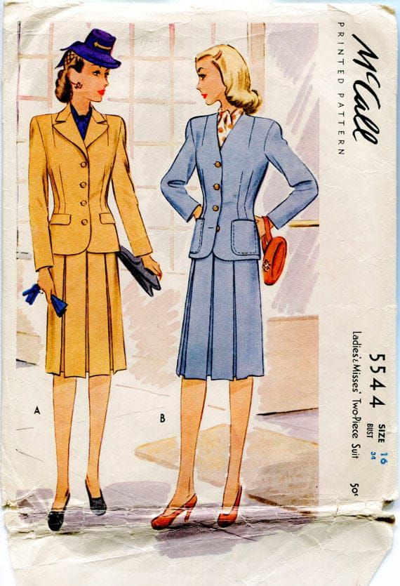 Fashion sure has changed, hasn't it? -  #1940s,tailored suits