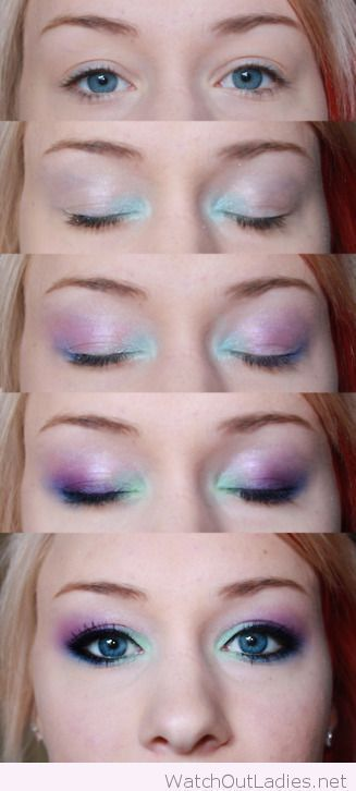 Stunning mermaid makeup, would go perfect with Fin Fun Mermaids's Jia's Asian   Magenta real swim-able mermaid tail.