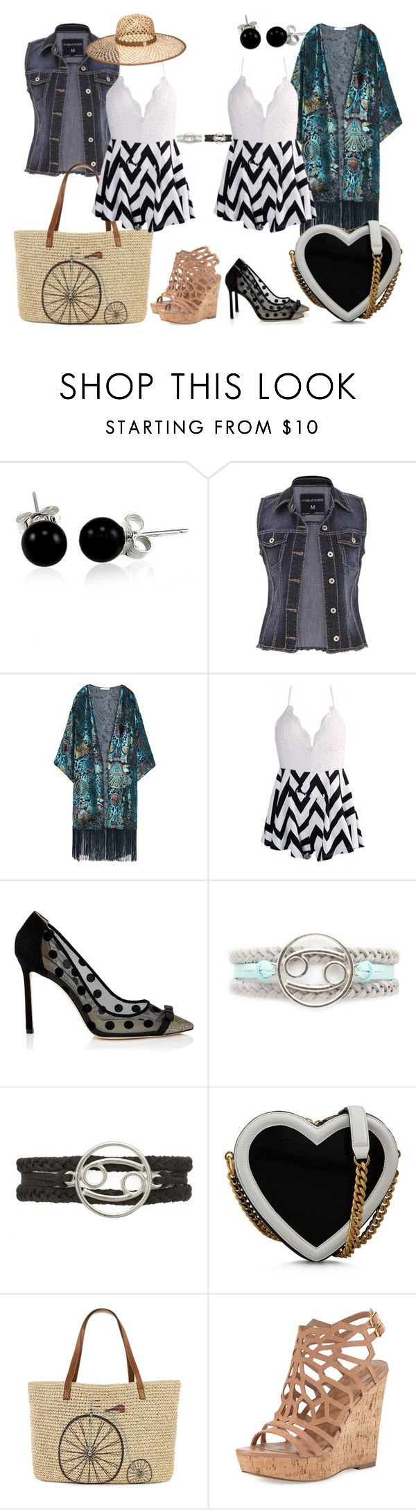 """""""Day to Night: Rompers"""" by janastasiagg ❤ liked on Polyvore featuring Bling Jewelry, maurices, MANGO, STELLA McCARTNEY, Straw Studios, Charles by Charles David, Henri Bendel, DayToNight and romper"""