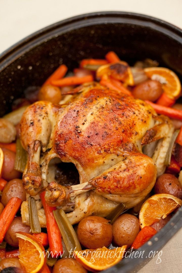Roasted Apricot Chicken with Herbs de Provence