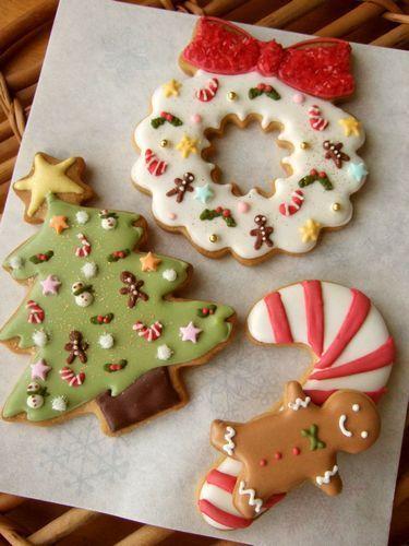 Christmas Icing Cookies . . . .