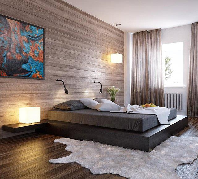 Asian-inspired 'Platform Bed' with Integrated Nightstands ~ by Modloft ...