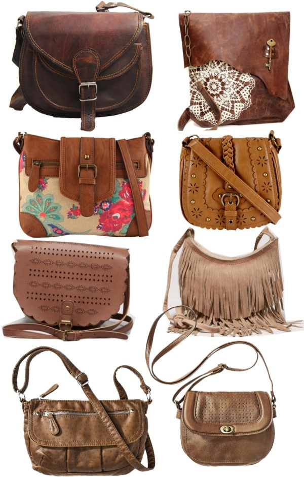 """over the shoulder cute brown bags"" by gemmathestar ❤ liked on Polyvore"