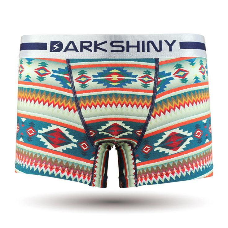 Ethnic/ネイビー/メンズ/エスニック/民族風/メンズファッション アンダーウェア ボクサーパンツ #darkshiny #mensfashion #boxerbrief