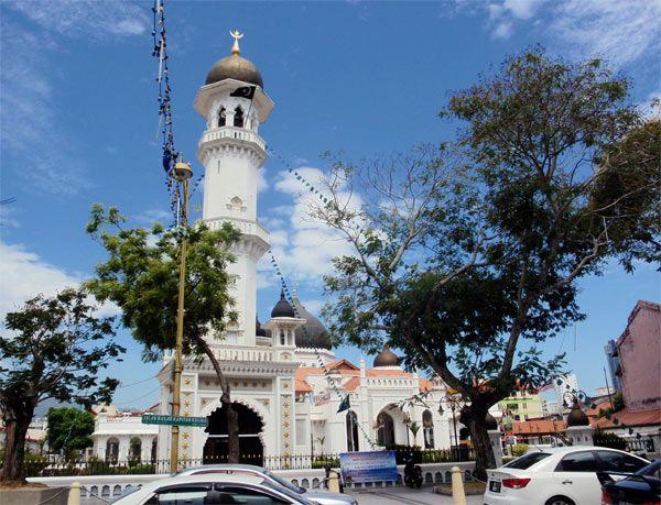 Mezquita Kapitan Keling en Georgetown en Malasia