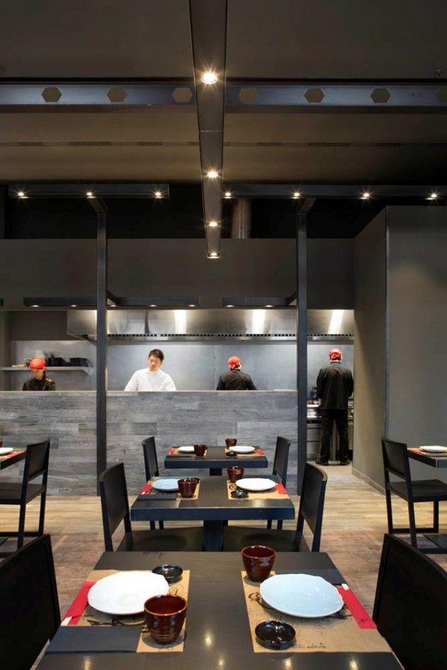 Best 25 japanese restaurant interior ideas on pinterest - Restaurant umo barcelona ...