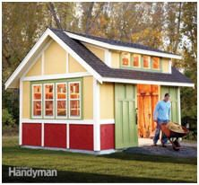 How much backyard storage do you need? Here are some free plans for big, all-purpose sheds that will gobble up your lawn tractor, outdoor furniture, garden tools, holiday decorations and more. Check out this list of all of the best designs.  Photo: FamilyHandyman.com