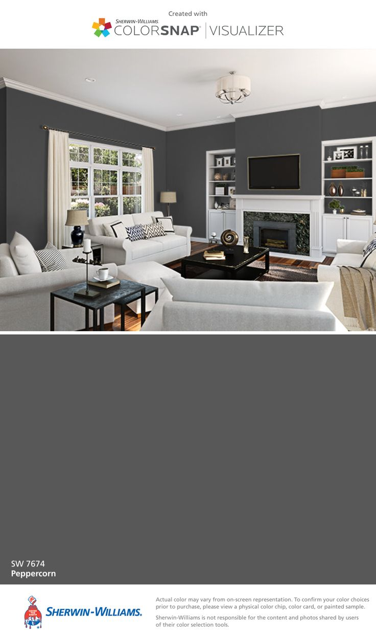 I found this color with ColorSnap® Visualizer for iPhone by Sherwin-Williams: Peppercorn (SW 7674).