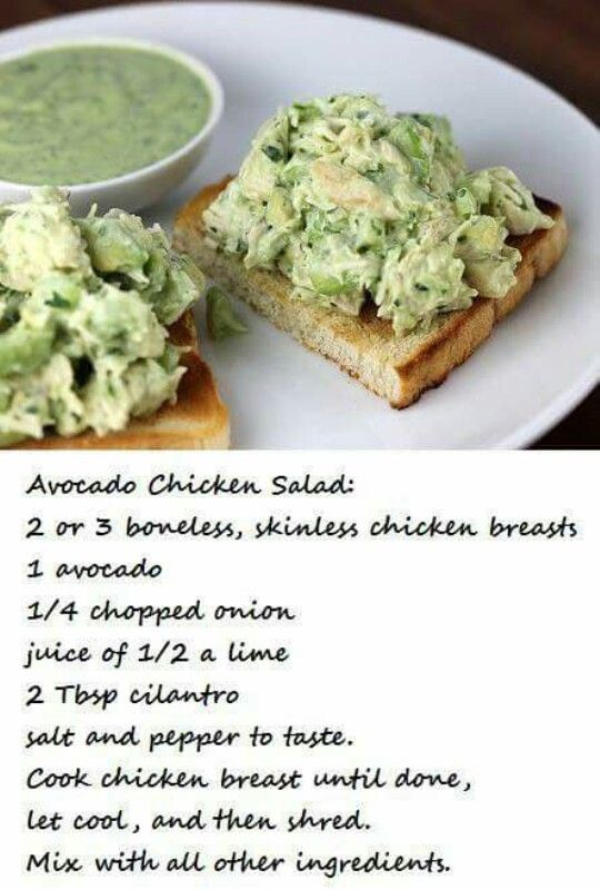 Avocado chicken salad                                                                                                                                                                                 More