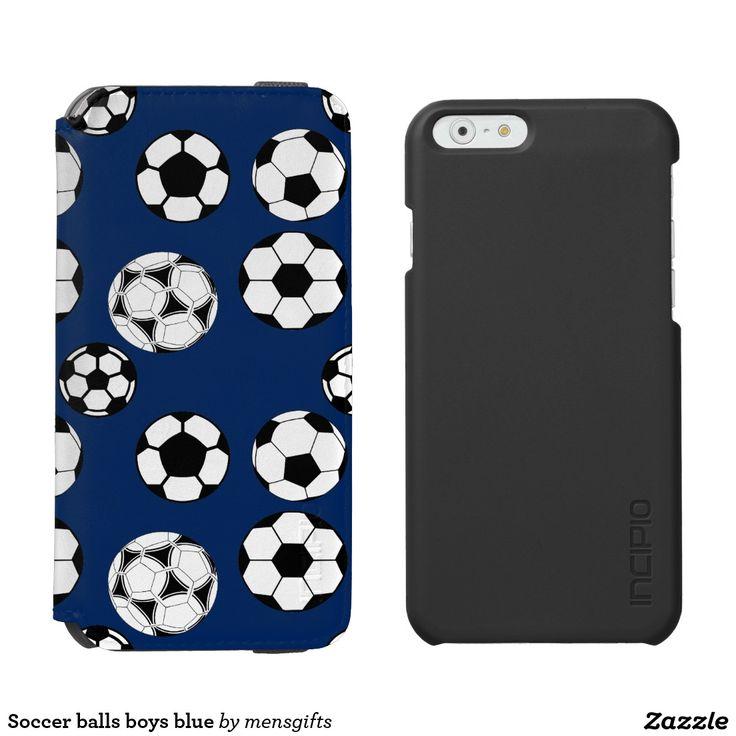 Soccer balls boys blue