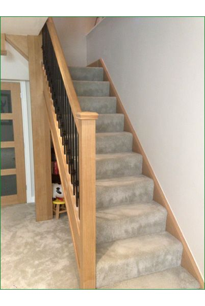 Spicer Street Staircase   American White Oak Staircase With Whitewood Treads  And Ply Risers With A