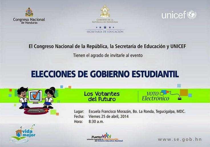 Honduras, Nación y Mundo: Elecciones de Gobierno Estudiantil