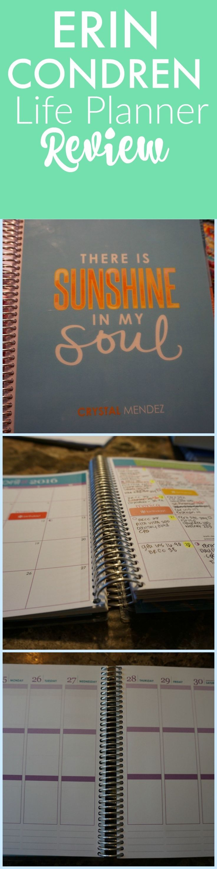 Erin Condren Life Planner Review. How I use this planner to manage my bills, blogging and daily schedule.