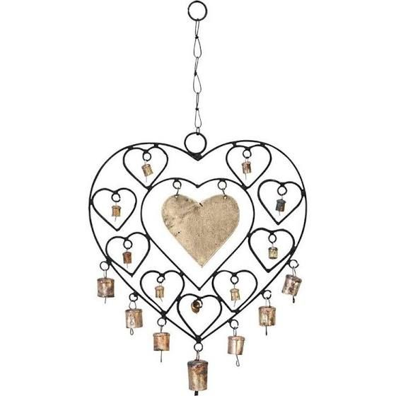 ORE International Metal Heart Wind Chime | Wind Chimes | 26661