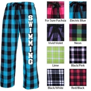 Swimming Drawstring Flannel Pants; choose from 8 different colors!