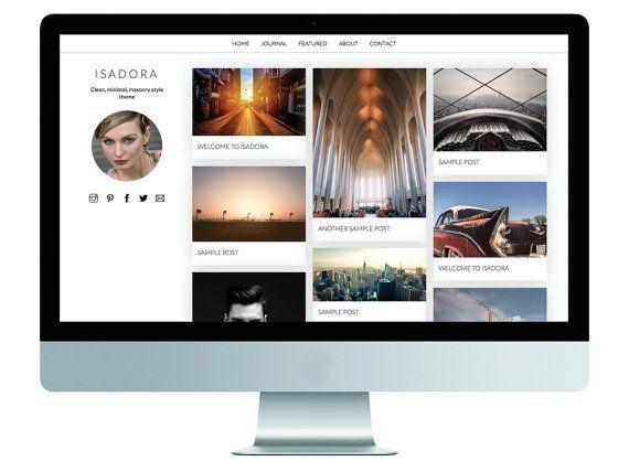 Isadora • Responsive, Minimal, Pinterest Style WordPress Theme isadora.gary-wilkerson.com www.etsy.com/shop/gwpress