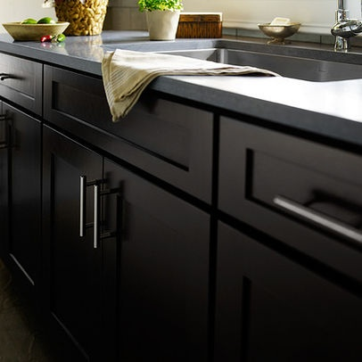 17 best images about black kitchen cabinets on pinterest for Matte black kitchen cabinets