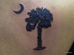 Image result for palmetto tree and moon tattoo