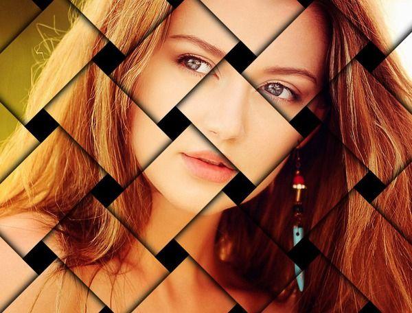 Fotomontaggio Foto con effetto maglie intrecciate - Pixiz