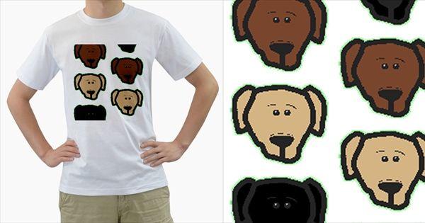 Lab+3+Colors+Cartoon+Head+Men's+T-Shirt+(White)+