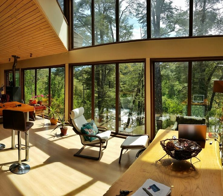 Modern house in #Pucón #Chile by the Trancura River