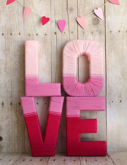 37 Diy Valentine S Day Decorations Love Yarn Letters Valentine S Day Home Decorations Ideas