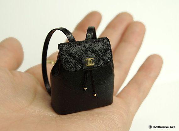 Dollhouse Miniatures CN04 designer Backpack 1/12 by DollhouseAra