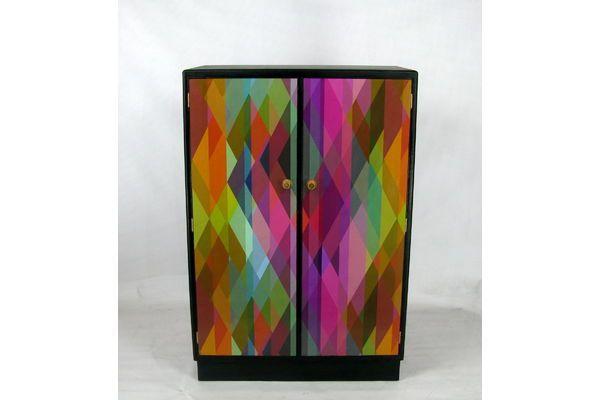 Upcycled Child's Wardrobe | Vinterior  #midcentury #rainbow #furniture #design #vintage #home