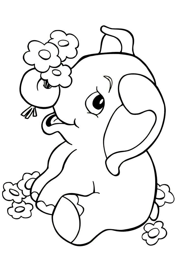 Pin By Parmar Hina On Drawing Elephant Coloring Page Jungle