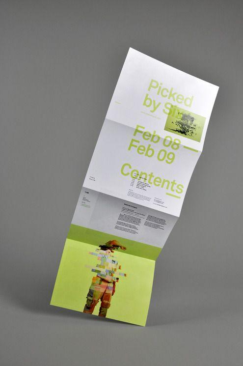Brochure fold down not across..big design in back