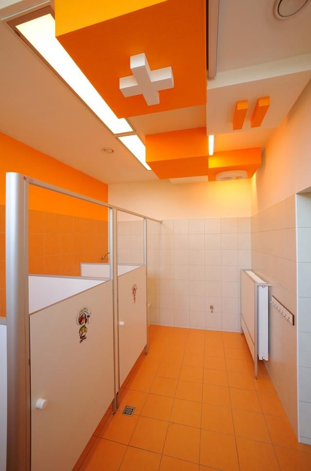 Kindergarden bathroom in Poland - designed by RS+ Robert Skitek