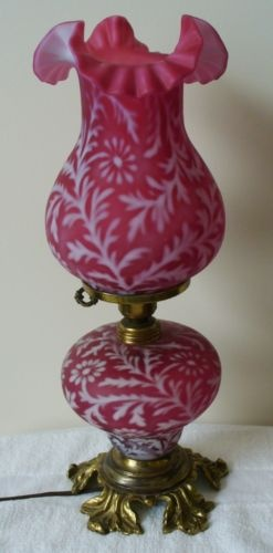54 best Fenton Cranberry Lamps images on Pinterest | Vintage lamps ...