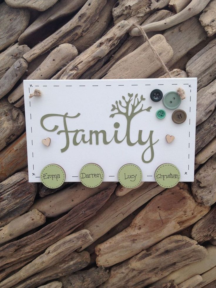 Family Tree Plaque Sign Personalised Discs for Family Names Gift