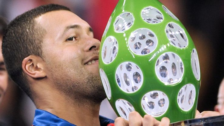 Jo-Wilfried Tsonga, Winner of the 2012 ATP250 tennis tournament Moselle Open. #France #Lorraine #Moselle #Metz #tennis  #ATP #tournament #ATP250 #winner #player #enjoymoselle #trophy #saintlouis #crystal
