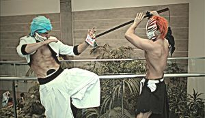 Grimmjow vs Living Ichigo by Jerevin-id