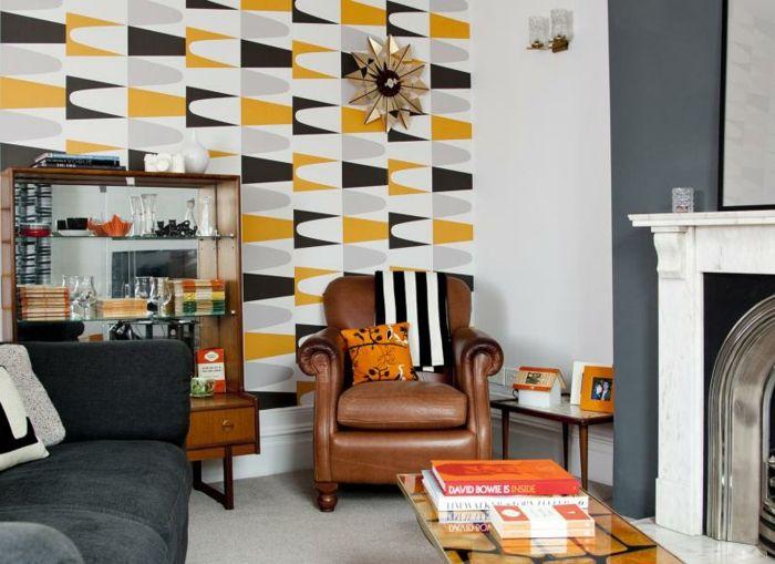 Pinterestu0027teki 25u0027den fazla en iyi Moderne wandgestaltung fikri - tapeten fürs wohnzimmer