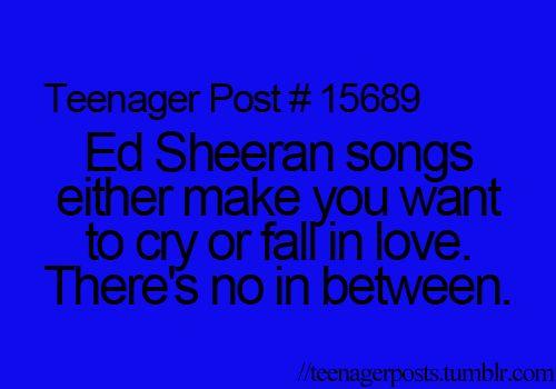 I love ed sheeran