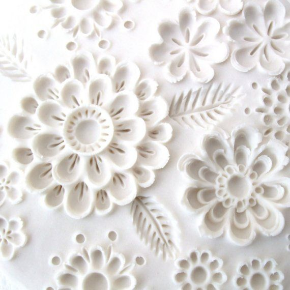 wall sculpture - cold porcelain inspiration