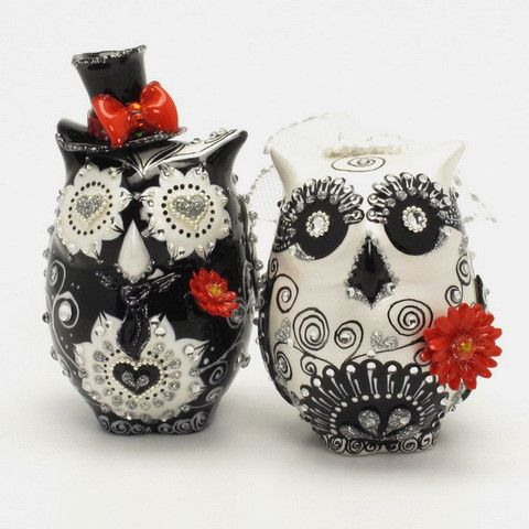 ceramic owl wedding cake toppers 118 best ceramic figurines images on owls 12489