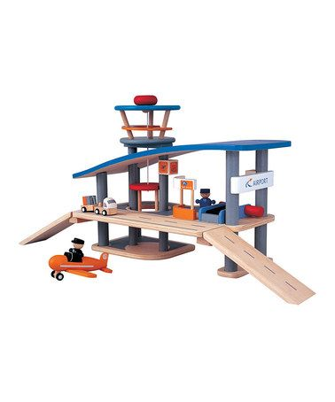 Take a look at this Airport Set by PlanToys on #zulily today!