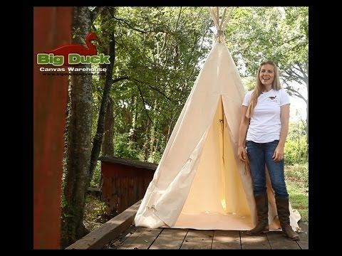 How to Make a Canvas TeePee for your big and little kids.  Let us know if you have any questions!
