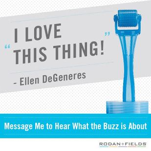"""The Rodan + Fields AMP MD Roller was just FEATURED on The Ellen DeGeneres Show TODAY! Ellen says, """"I know what that is, I use it all the time!"""" Woo-hooo!! ♥♥♥ Use it for 1 minute a night, every night and you WILL see your skin change!  Contact me for more information at http://droyal.myrandf.biz"""