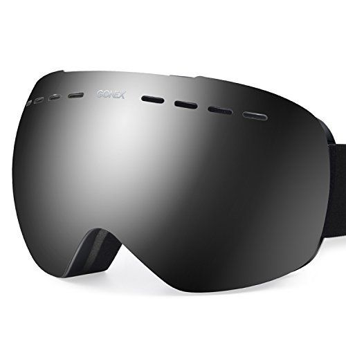 Gonex Oversized Ski Snow Goggles Anti-fog UV Protection with Frameless Double Spherical Lens Friendly Notices: 1. Please remove the protective film of inner lens before use. 2. Do not wipe them with hands or rough cloth as they will either stain or scratch the lens. If snow gets into your...