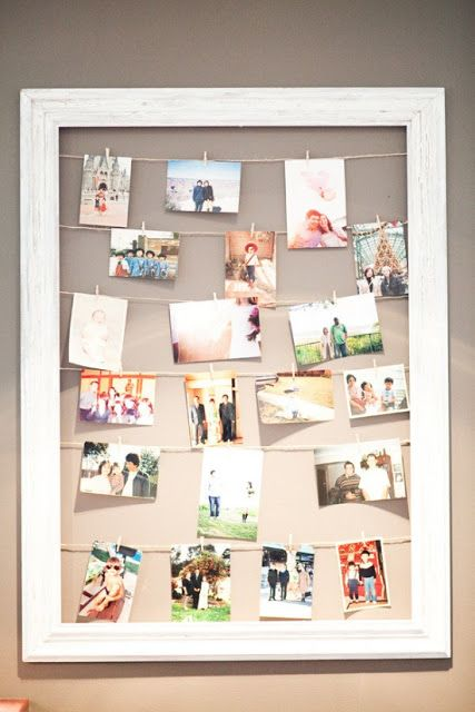 Fun and easy DIY idea - and you can find cool frames for cheap at thrift stores