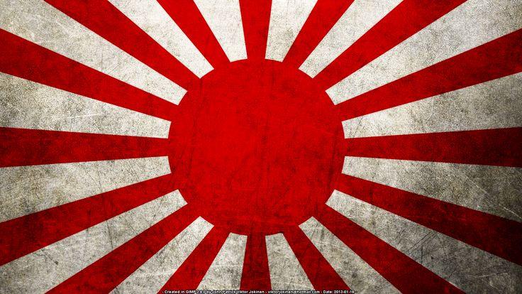 Japan Flag... giant yellow sun, baobab tree, grass, phoenix bird on invitation