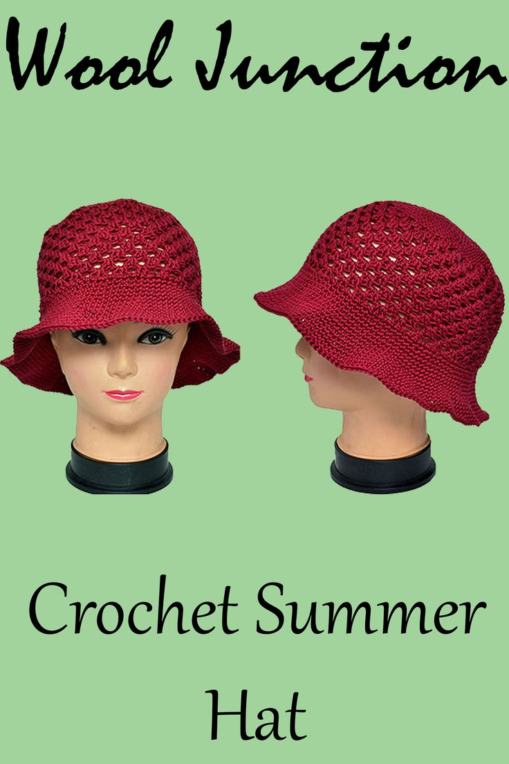Crochet Summer Hat available fro www.wooljunction.co.za.