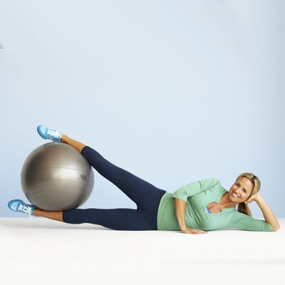 Not sure how to use that exercise ball? Try these thigh-toning moves...